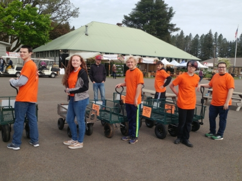 Molalla Band plant taxi crew
